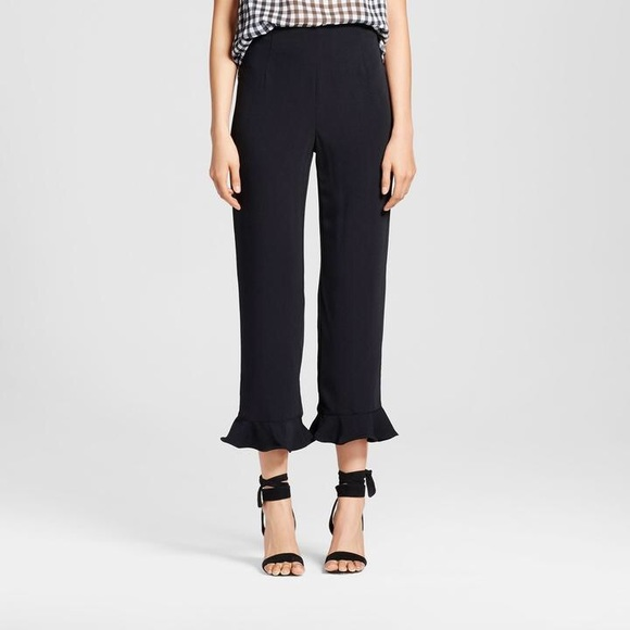 Zara Pants - Zara Black Pants With Ruffle Hems
